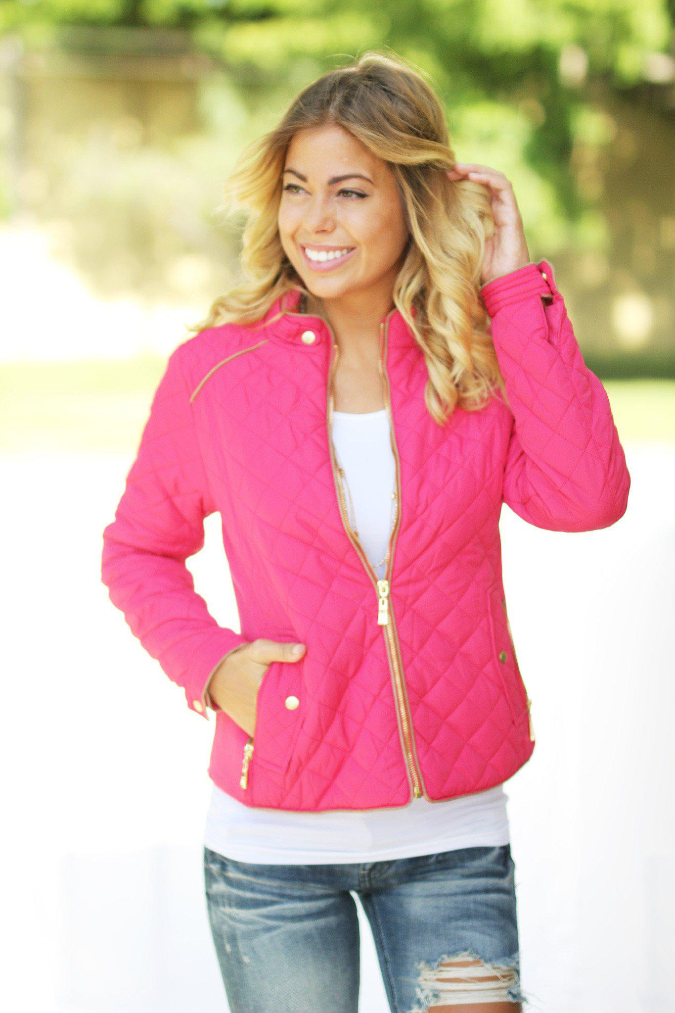 Coral Quilted Jacket