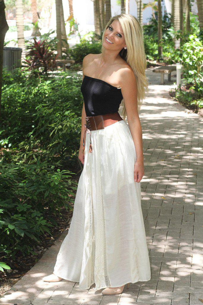 Boho Maxi Skirt With Belt