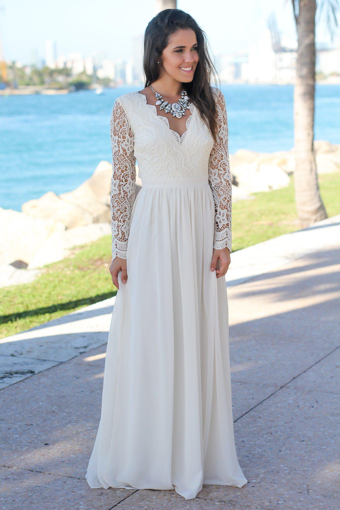 e1066085d3f Beige Crochet Maxi Dress with Open Back