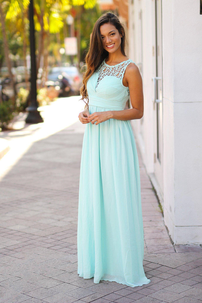 mint graduation dress