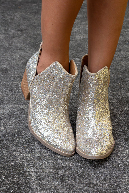 Fiera Gold Booties
