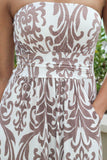 Mocha Maxi Dress with Pockets