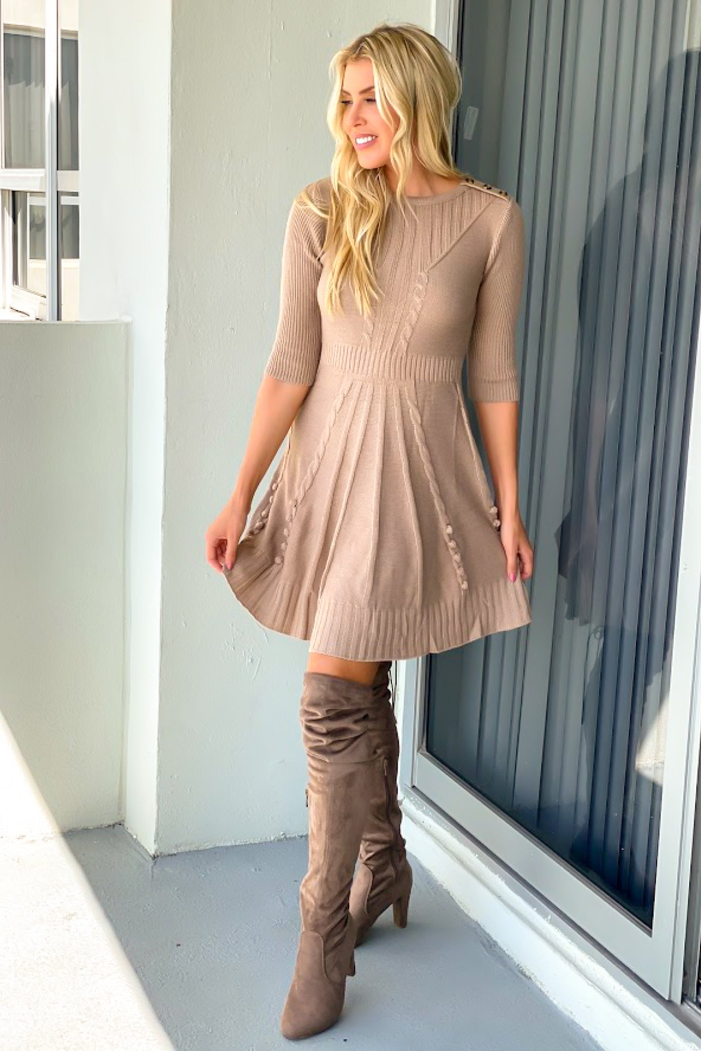 Taupe Sweater Dress