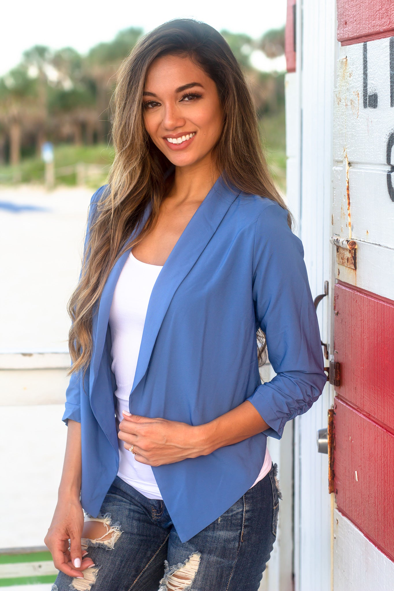 Dusty Blue Blazer