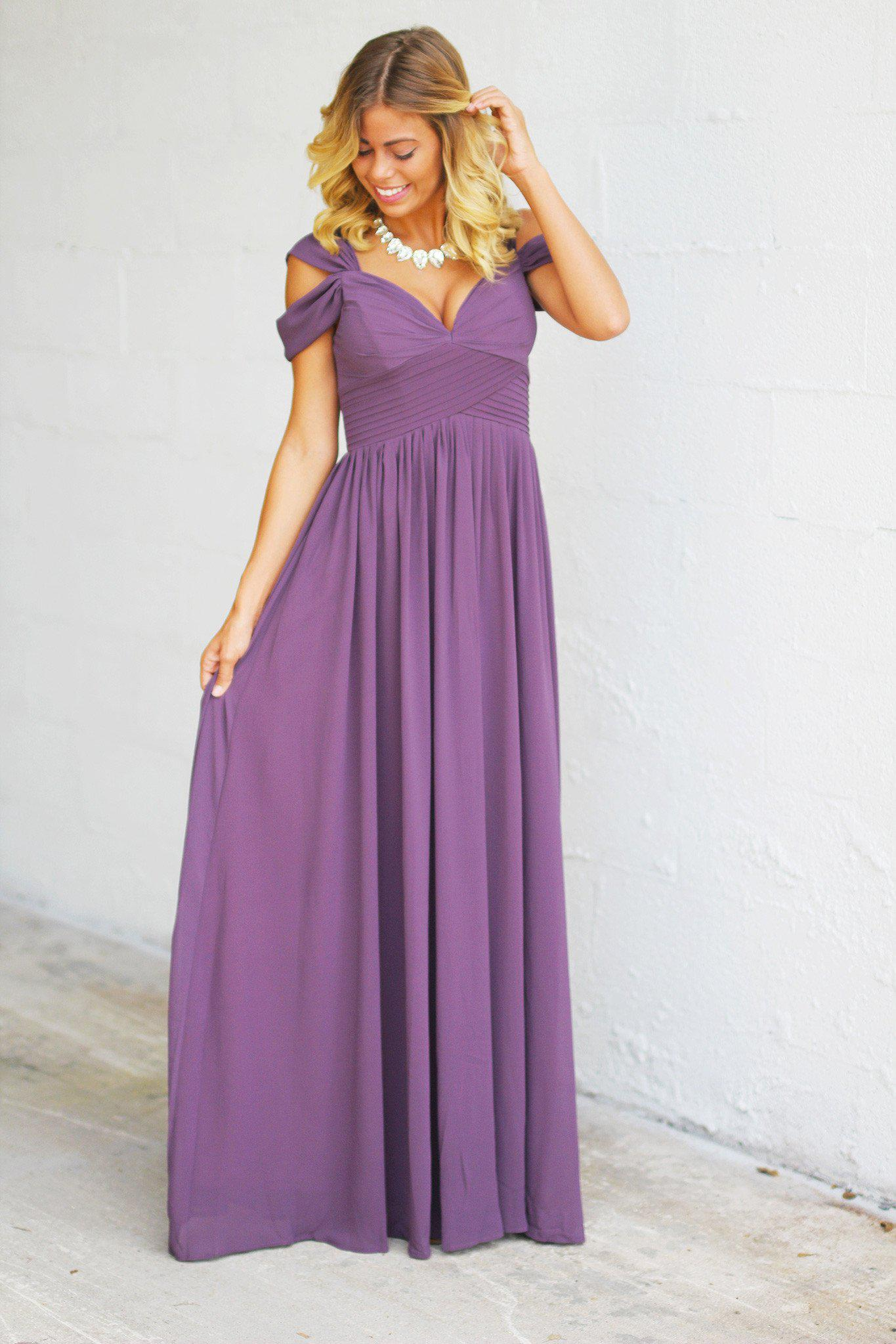Dusty purple off shoulder maxi dress dusty purple maxi dress dusty purple off shoulder maxi dress ombrellifo Image collections
