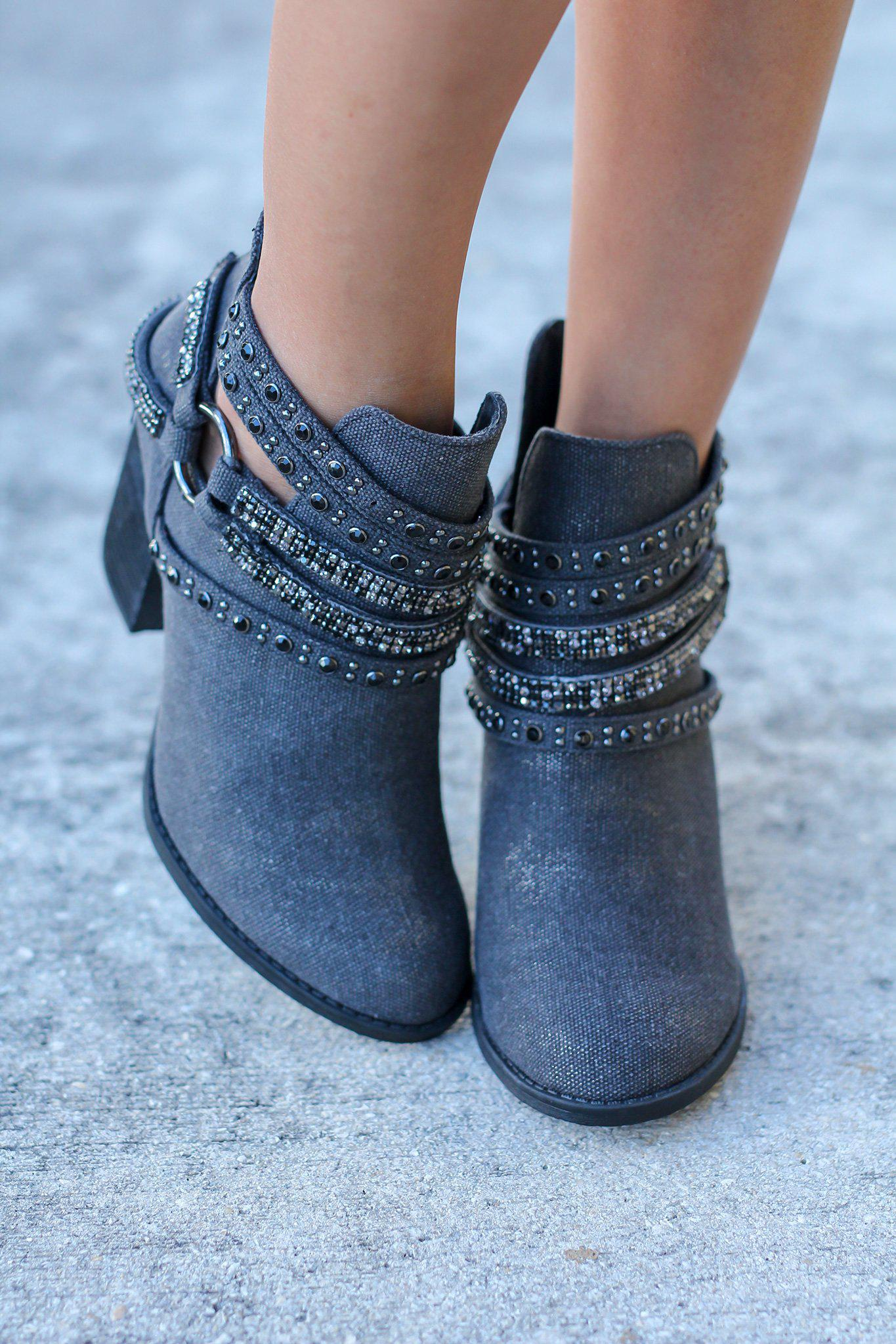 Elly Black Booties