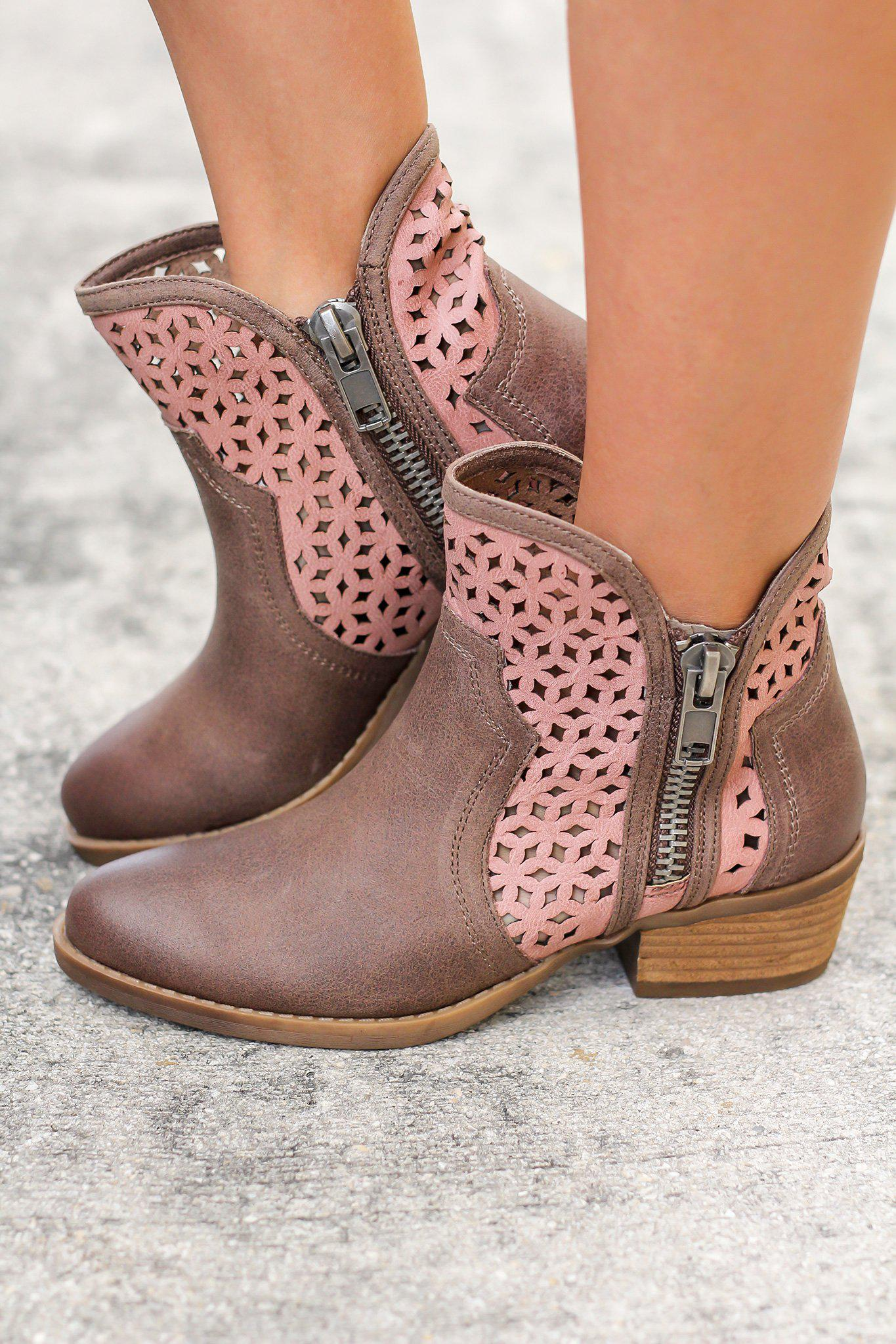 Emily Taupe Booties
