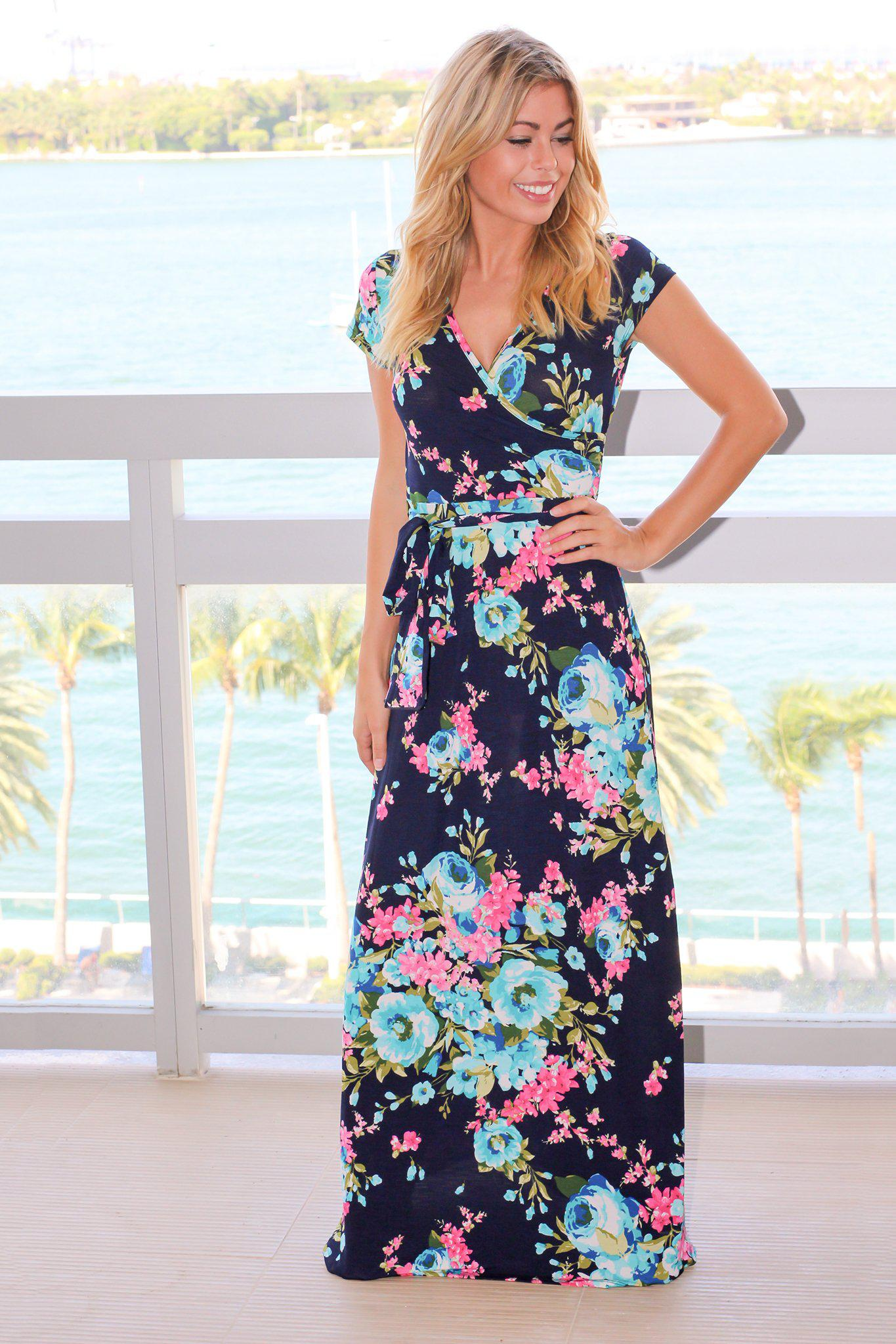36bb811a133 Navy and pink floral maxi dress maxi dresses saved the dress jpg 1365x2047  Pink and navy
