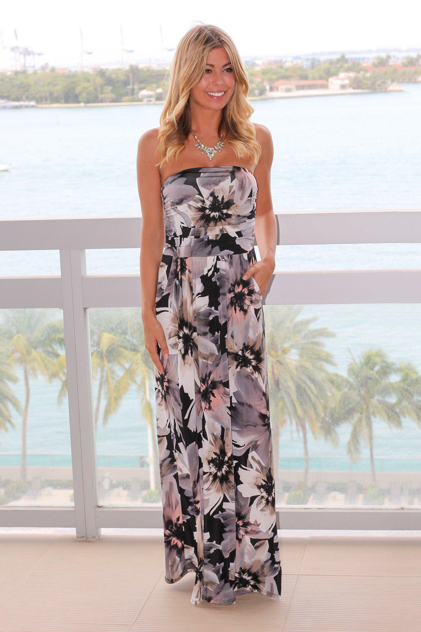 b97287915ee Cute Strapless Maxi Dresses
