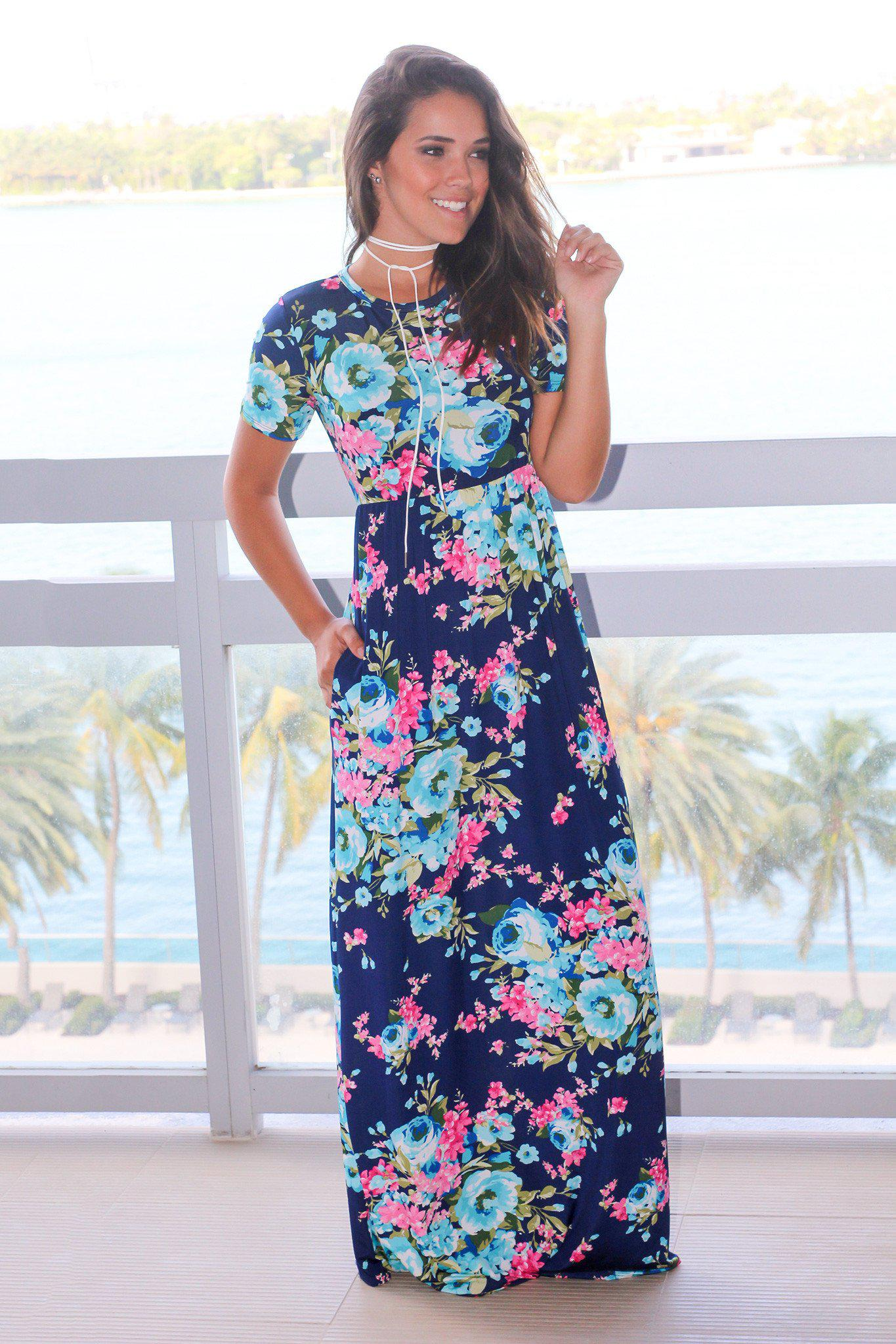 maxi dress with short sleeves pattern