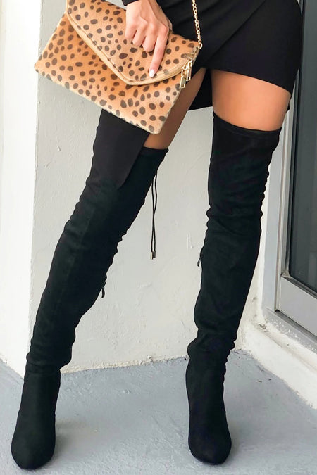 Eve Black Knee High Boots