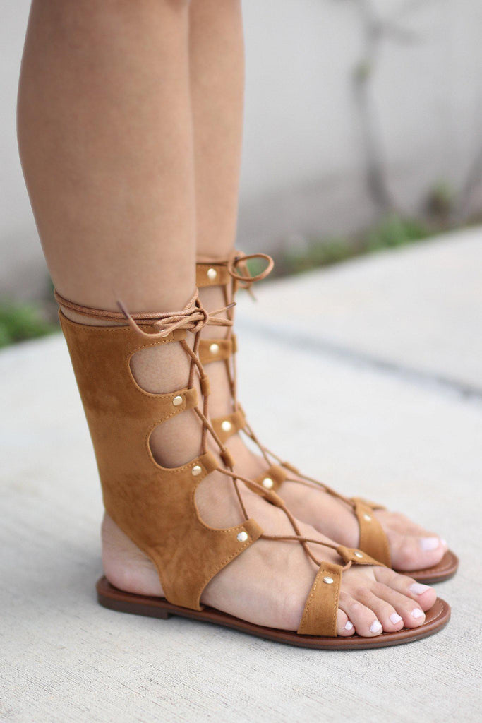 gladiator camel shoes