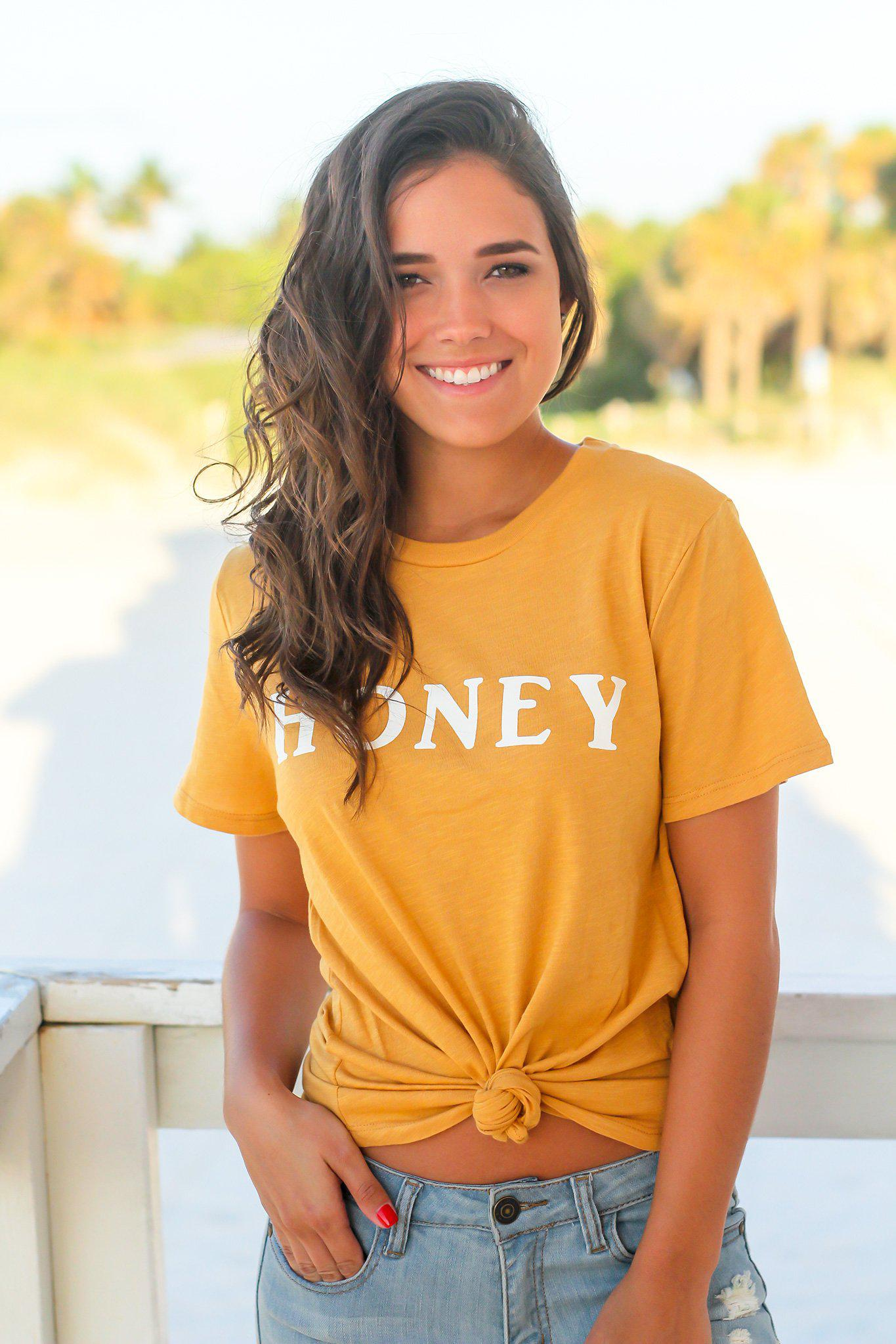 Gold Honey Top
