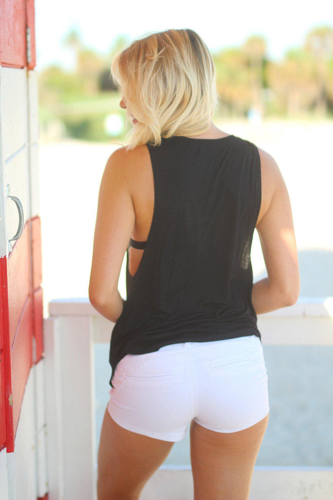 black beach tank top