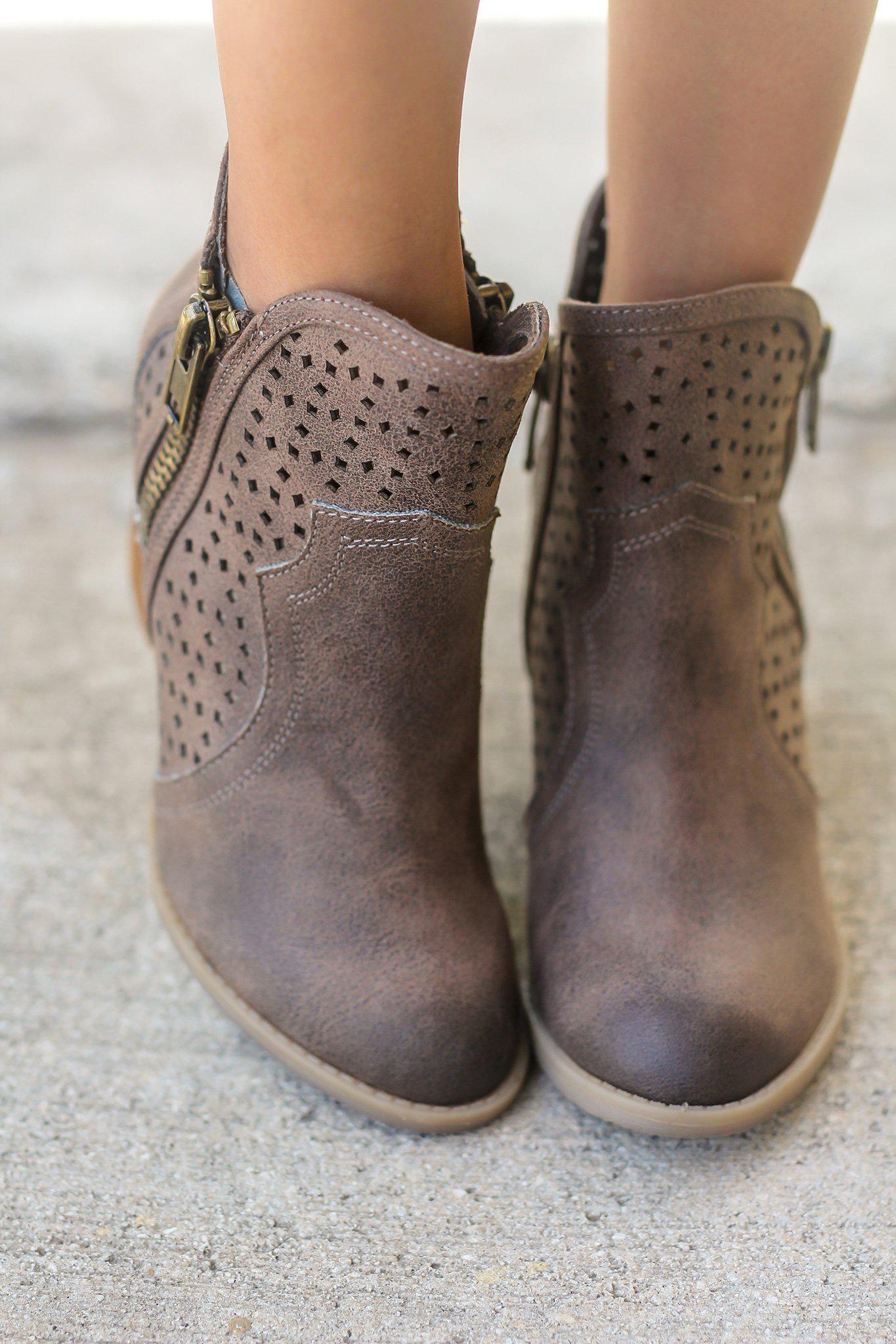 Gretchen Brown Booties
