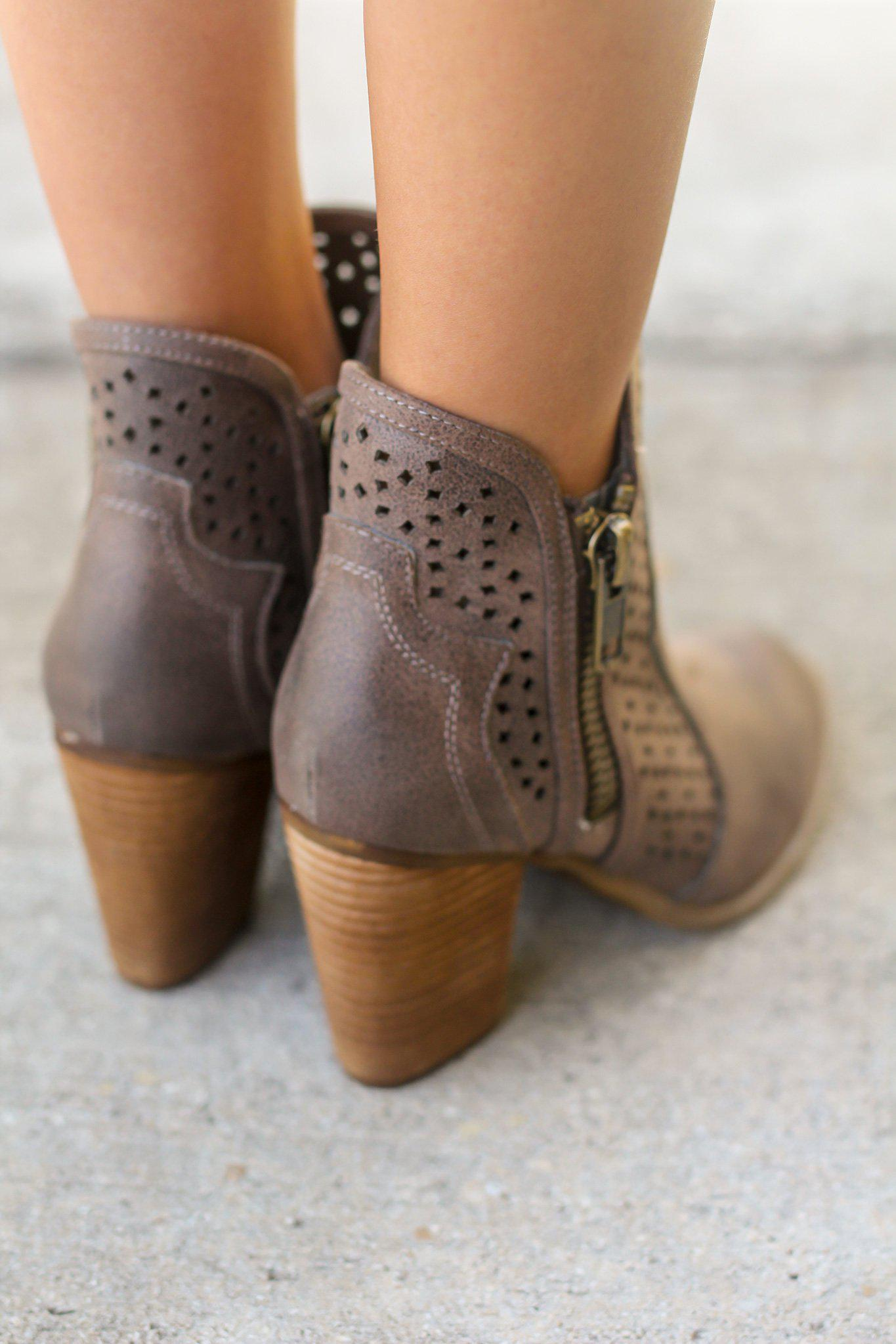 Gretchen Taupe Booties