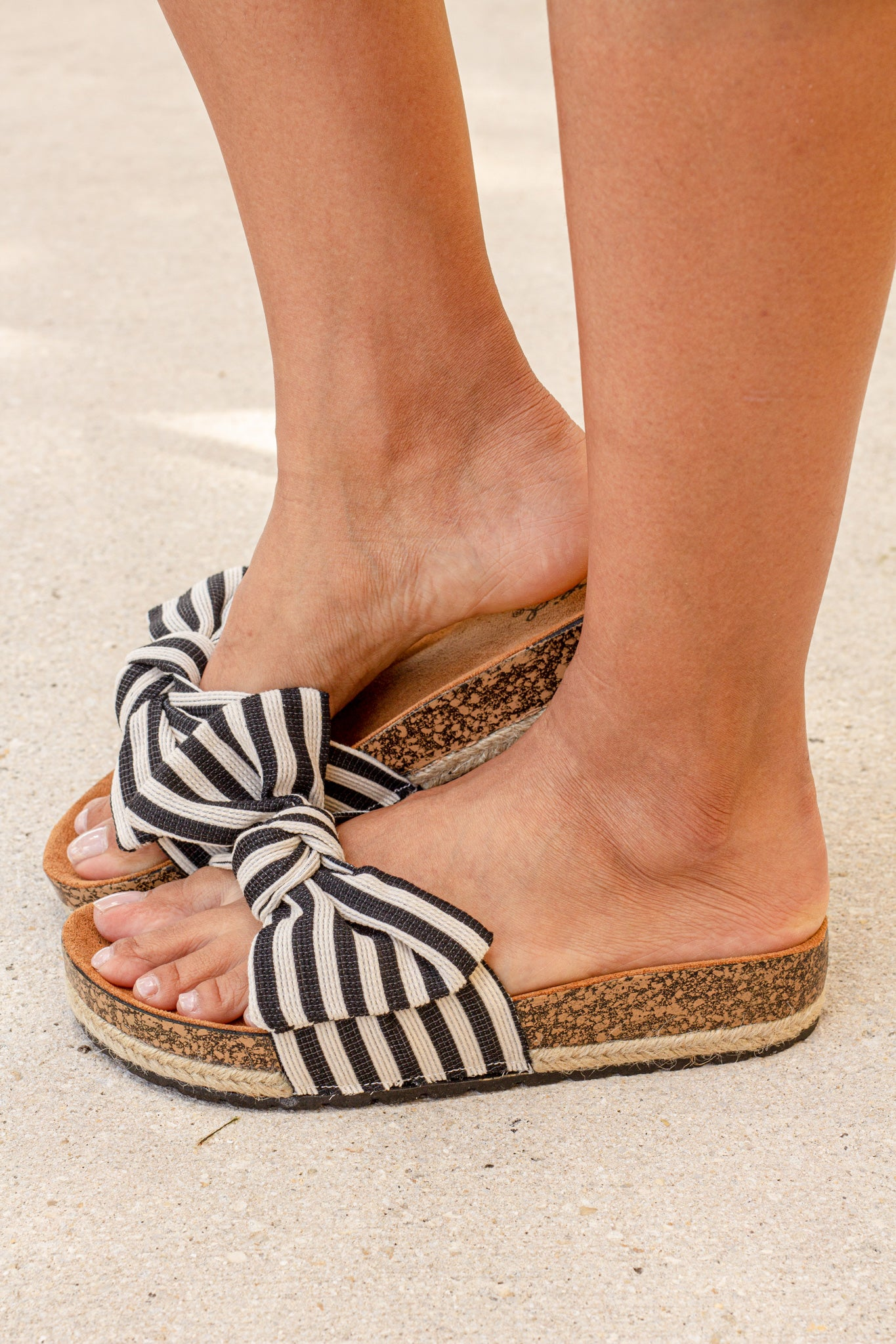 Haidy Black and White Sandals