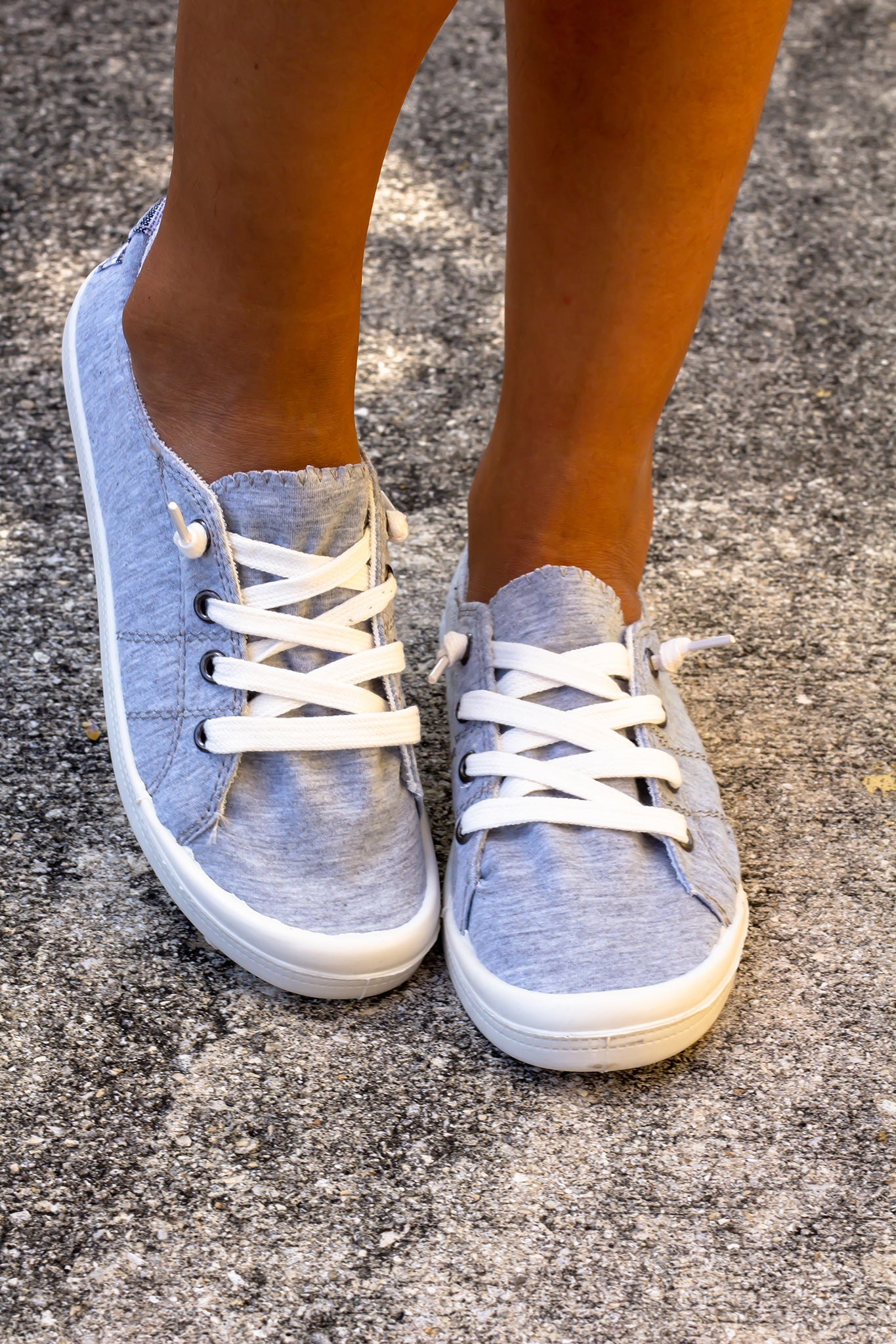 Heather Gray Sneakers