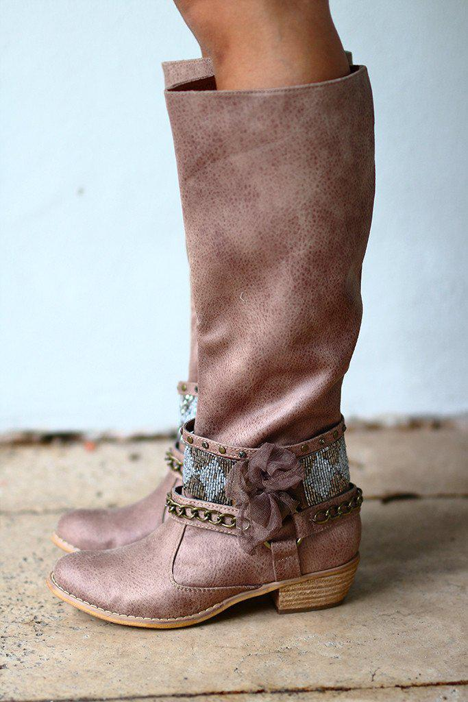High Status Taupe Boots