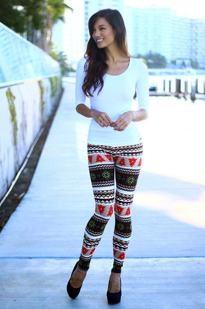 multi color printed leggings