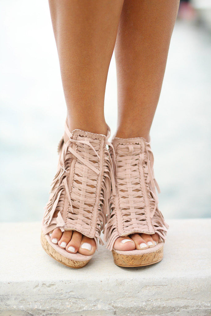honey buns nude wedges