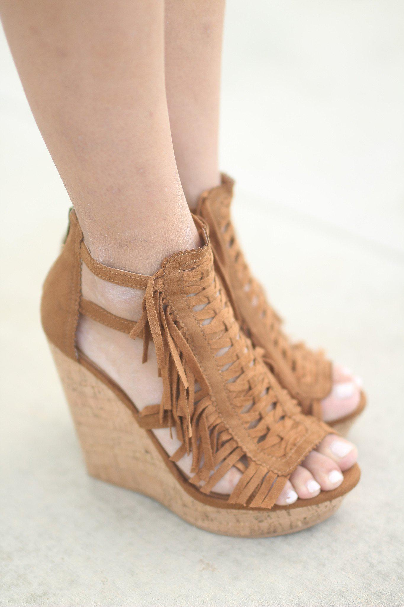 Honey Buns Tan Wedges