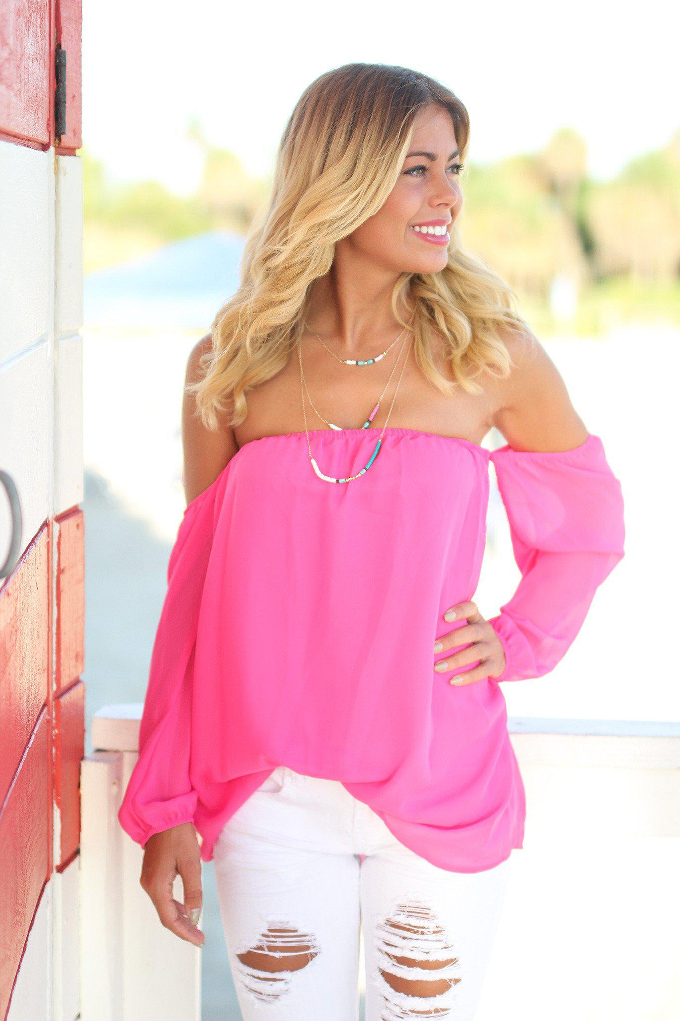 df85d63c1f16f Hot Pink Top  Boutique Clothing  Cute Tops ...