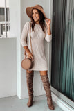 Oatmeal Knit Sweater Dress