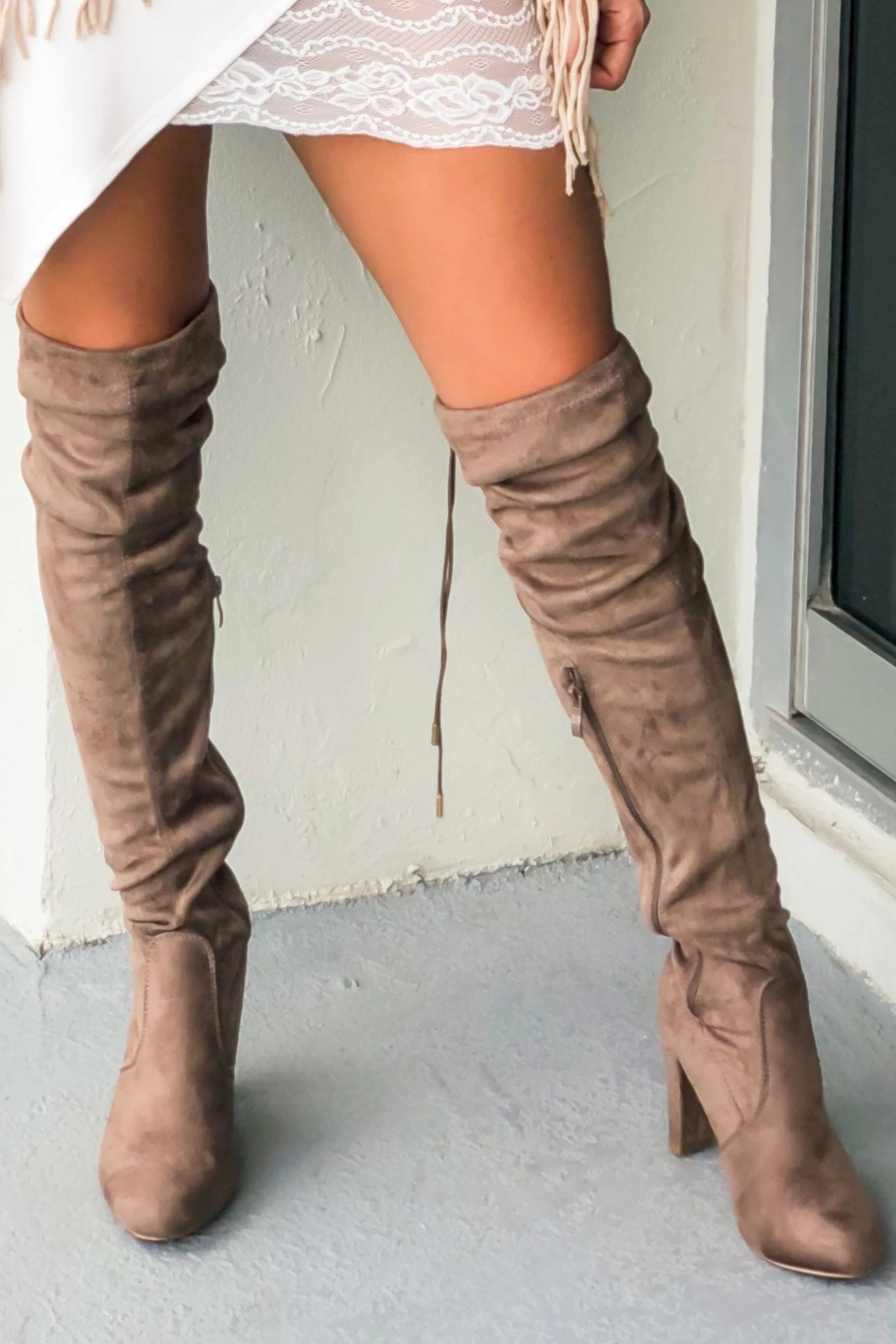 Eve Taupe Knee High Boots