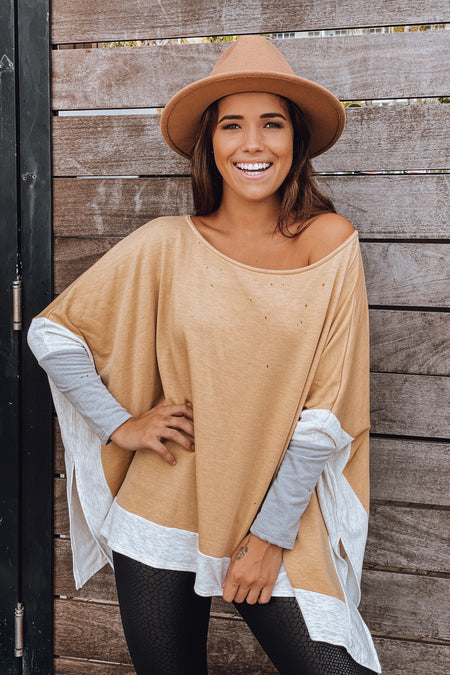 Mustard Poncho Top