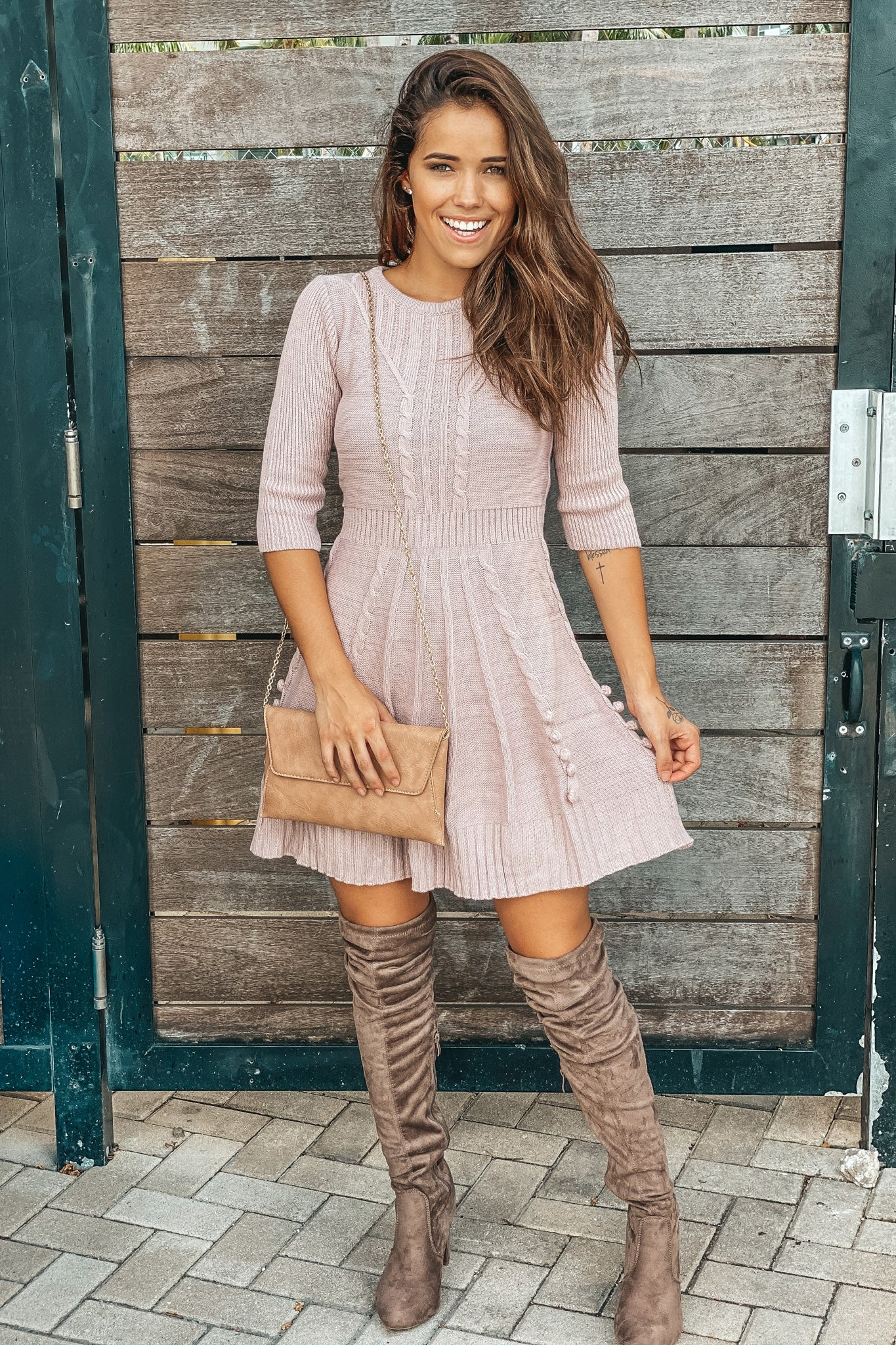 Mauve Sweater Dress