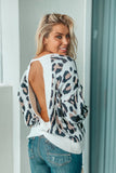 Ivory Cheetah Print Sweater