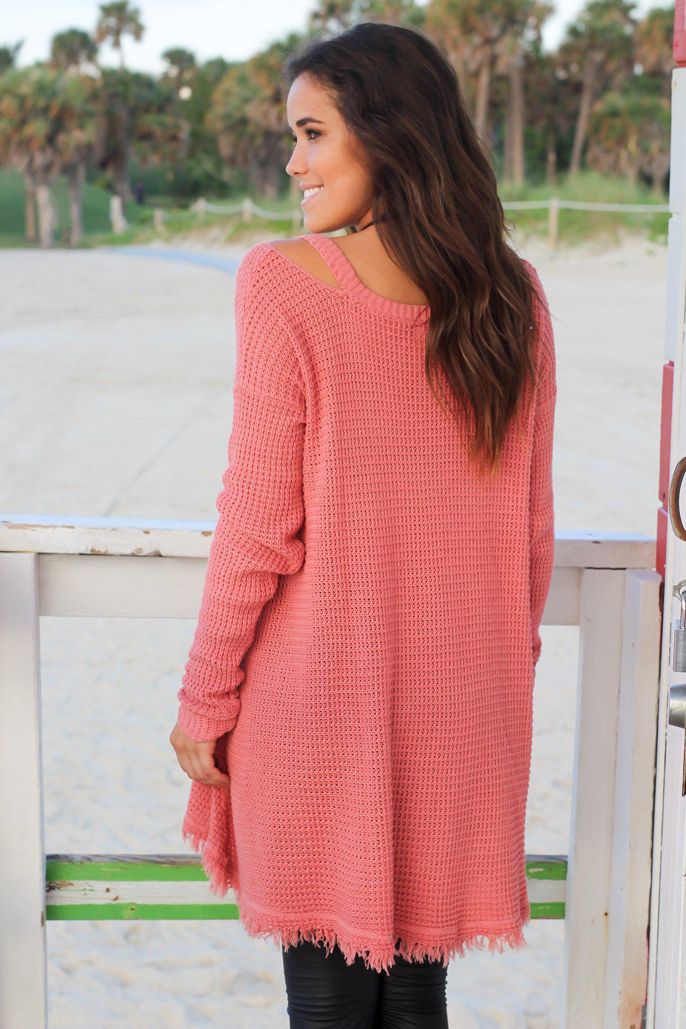 Indian Pink Tunic Sweater