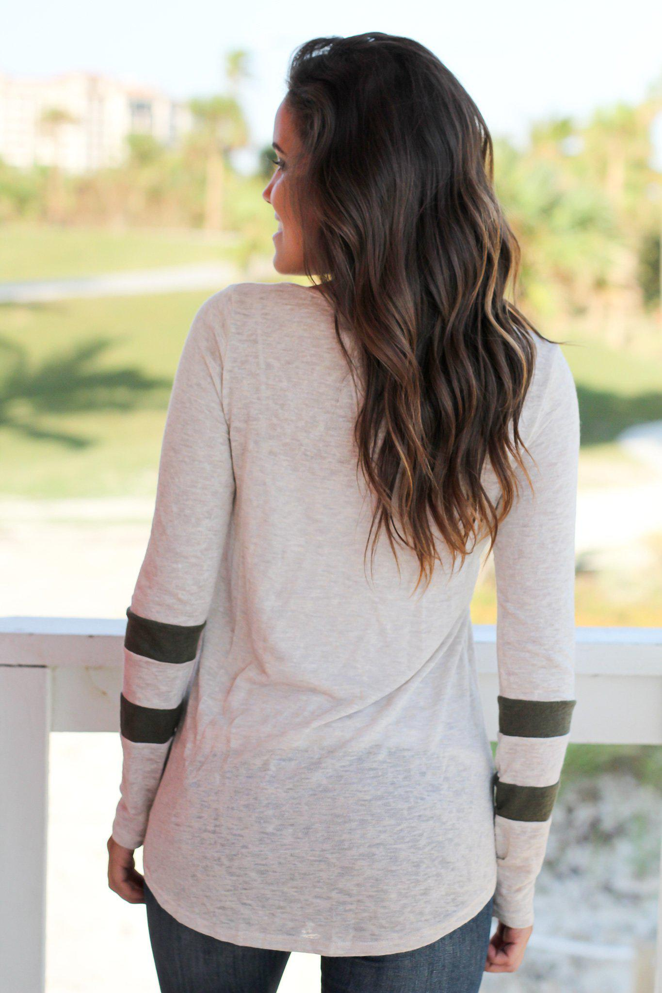 Ivory And Olive Top
