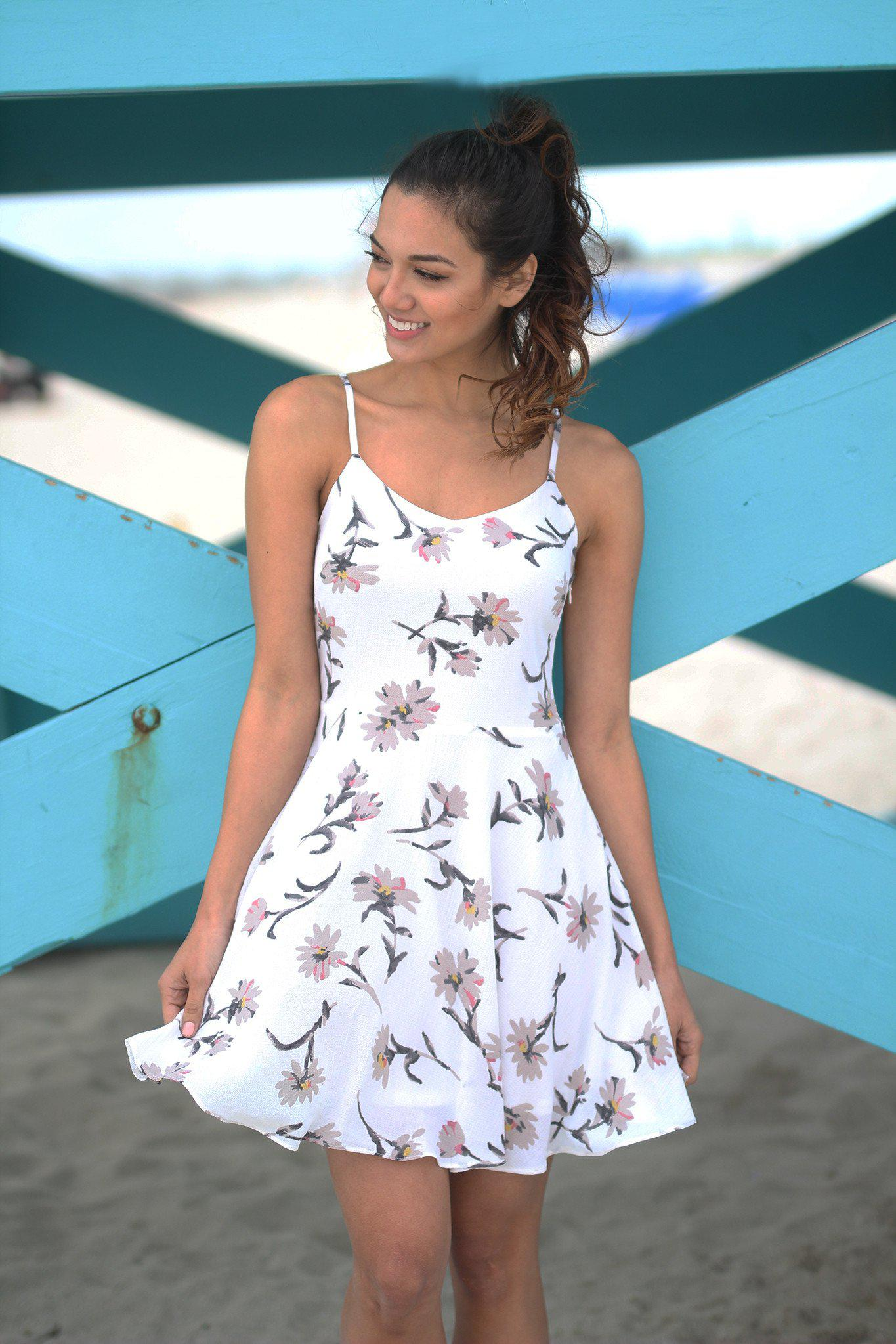 1215cff8bef Ivory Floral Short Dress | Ivory Short Dress – Saved by the Dress