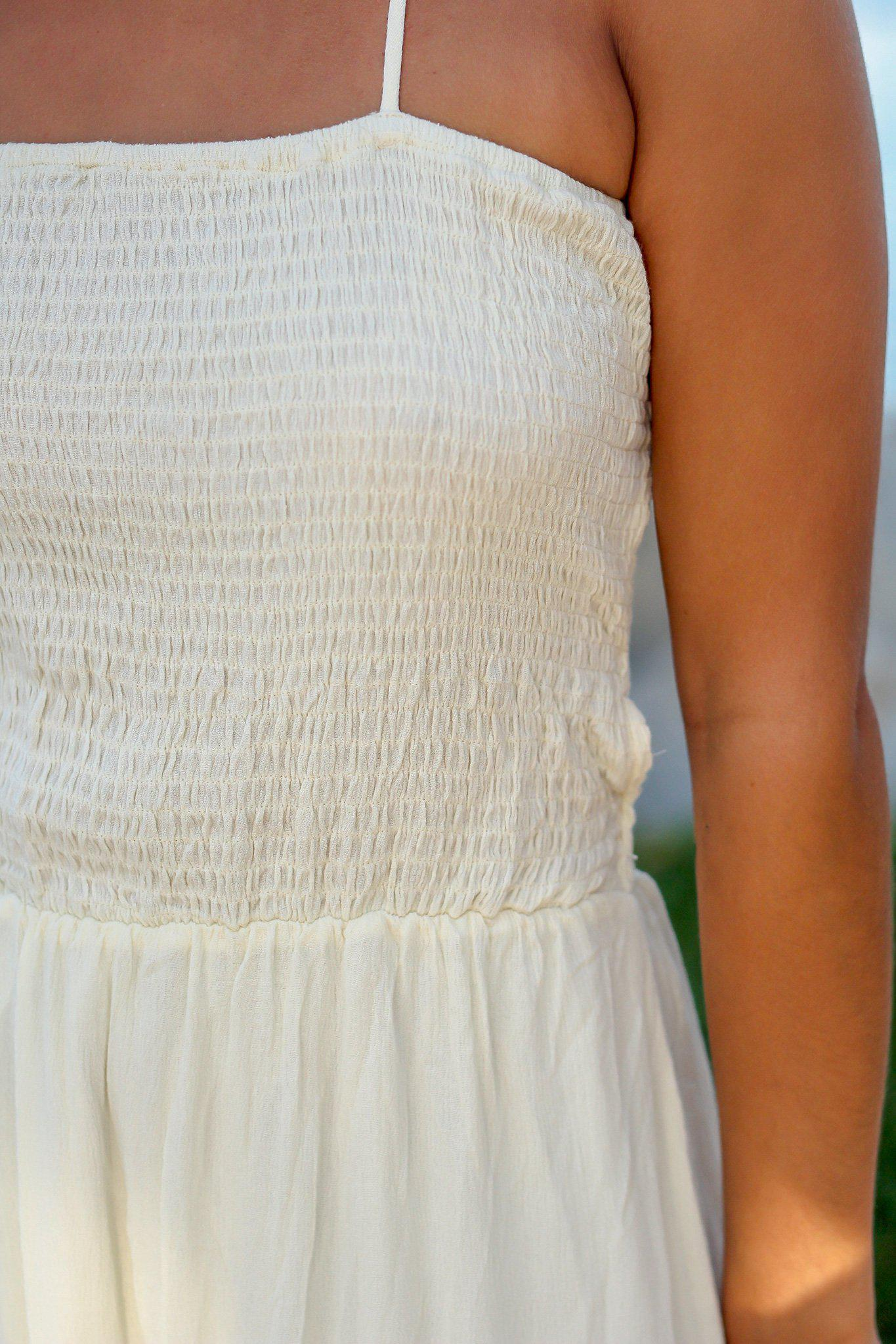 Ivory Maxi Dress with Strappy Back