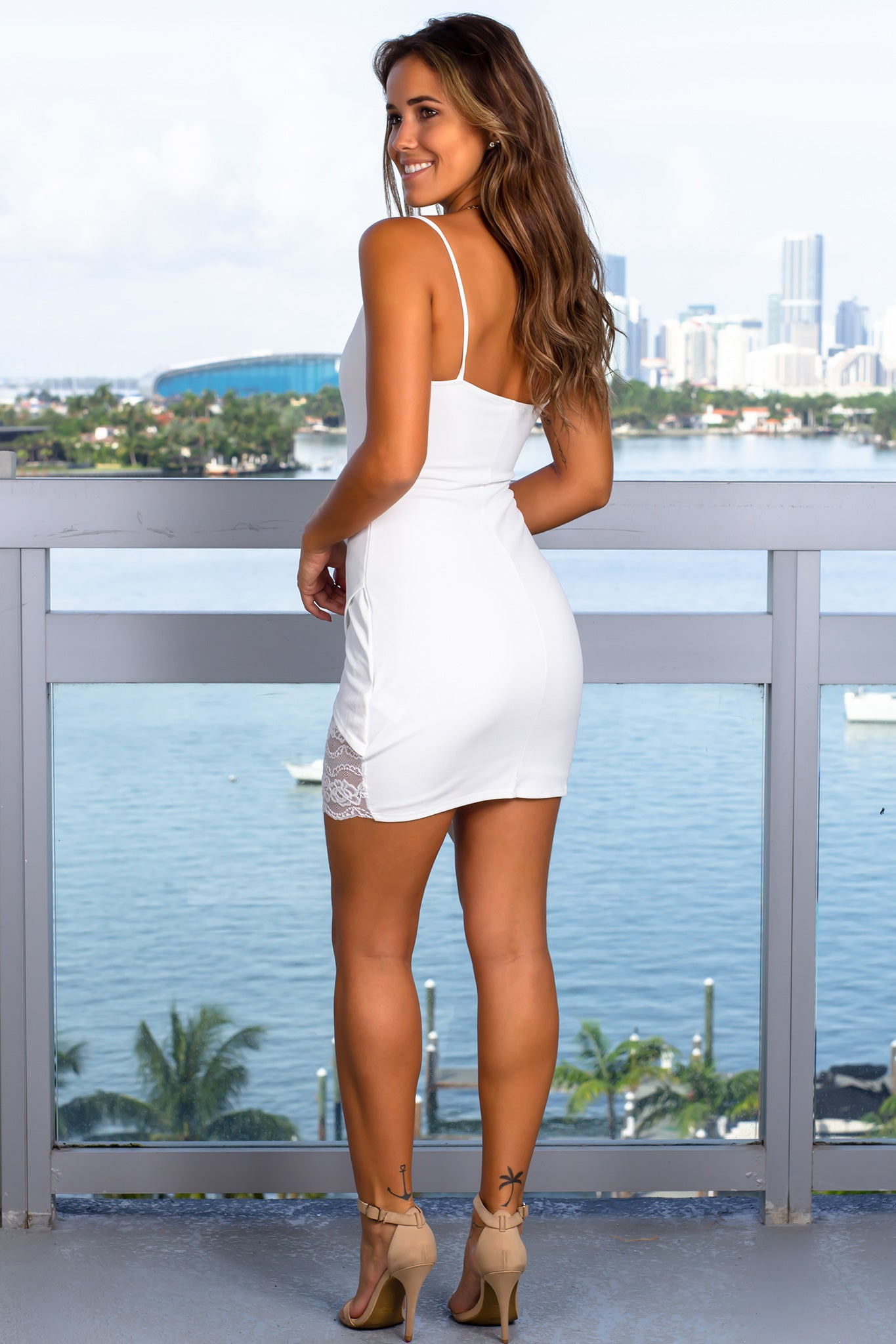 white short dress