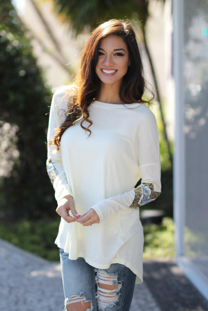 ivory fashion top