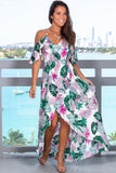 Ivory Tropical High Low Dress