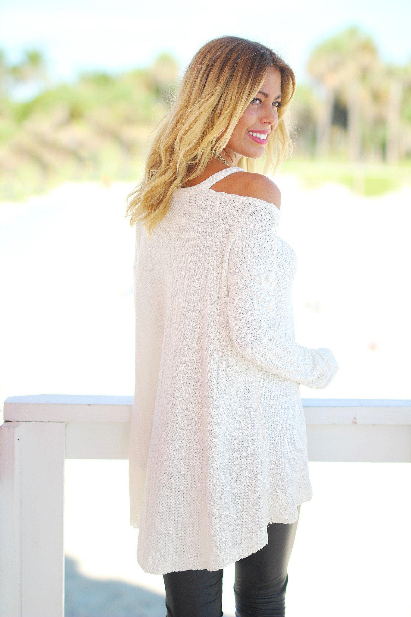 ivory loose fit sweater