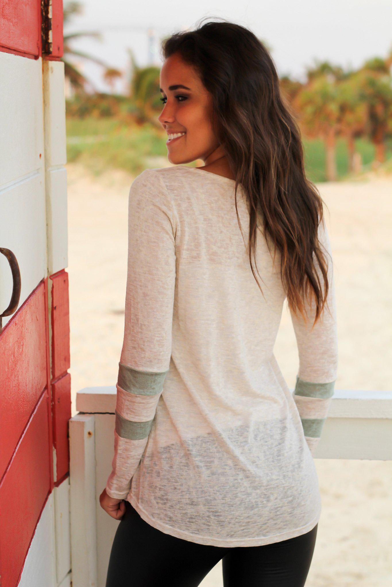 Ivory and Sage Top