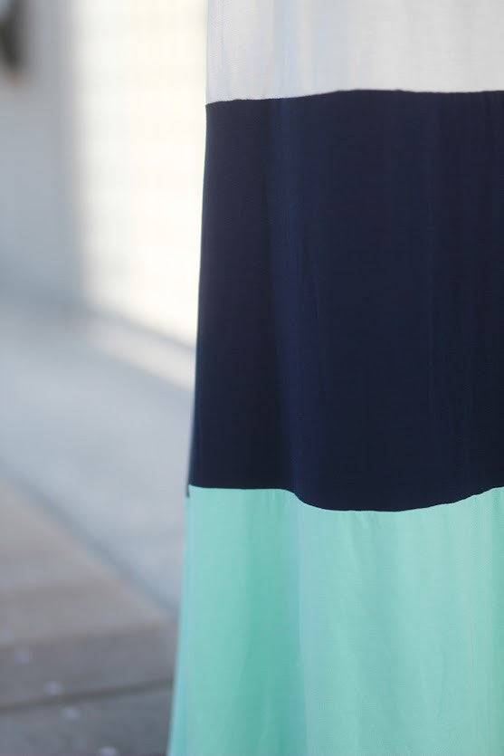 jade and navy skirt