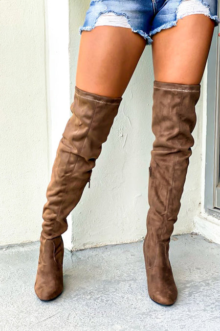 Keen Taupe Knee High Boots