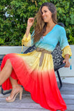 Lifestyle multicolored ombre cover up
