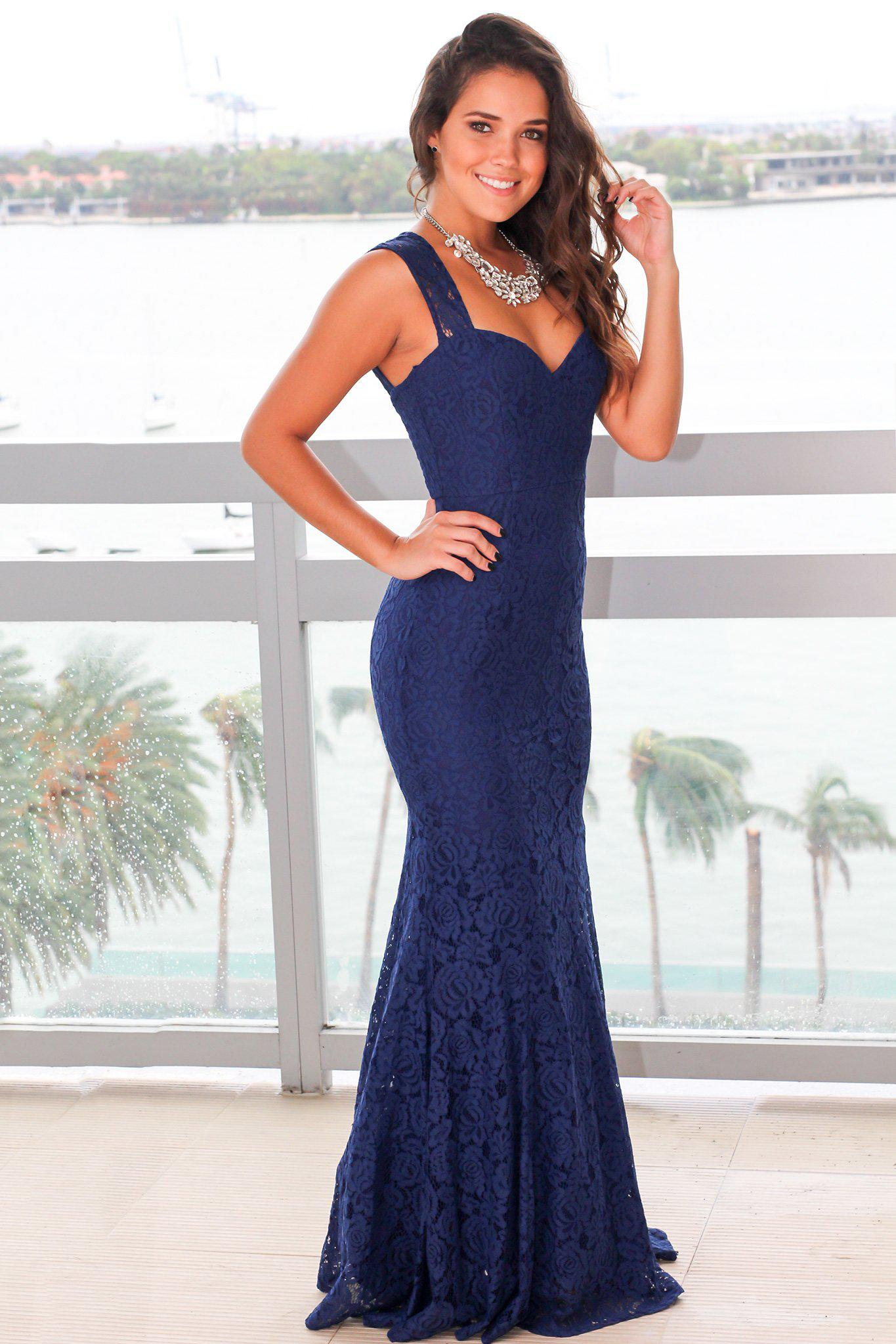 caff85eb94 Navy Lace Maxi Bridesmaid Dress | Huston Fislar Photography
