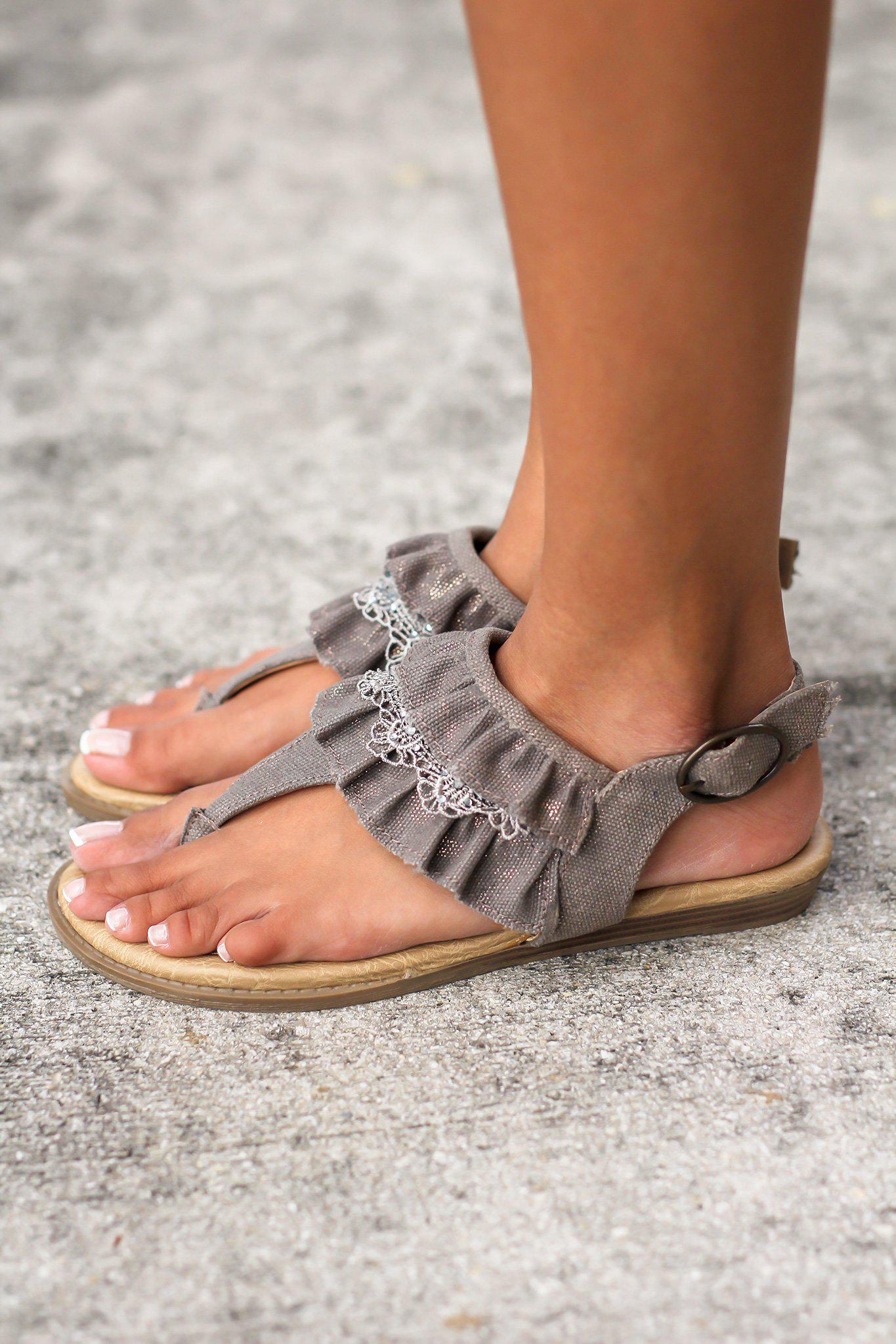 Lacy Brown Sandals