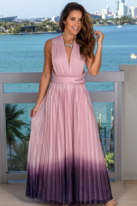 Lavender Ombre Maxi Dress