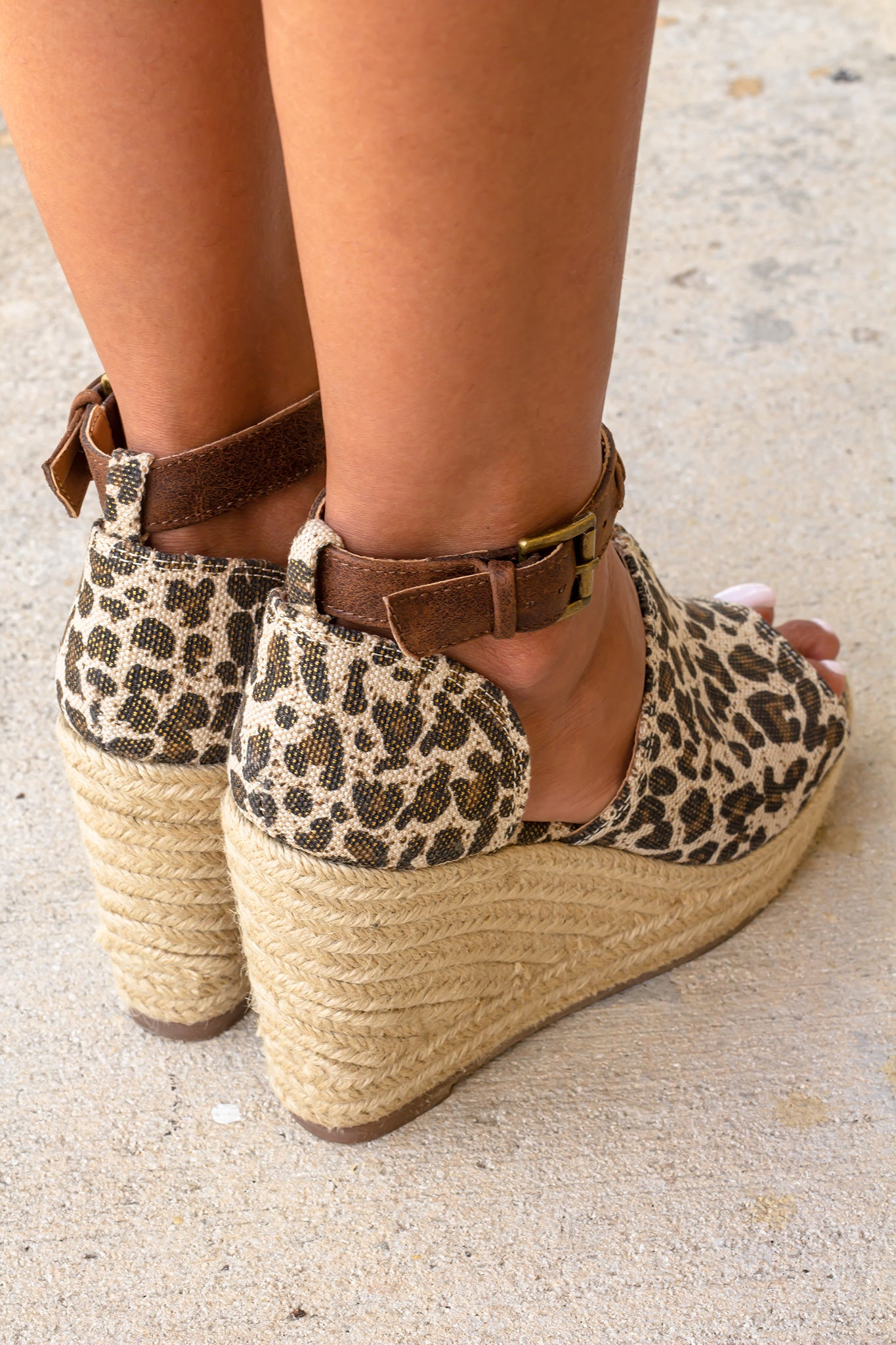 Leif Leopard Wedges