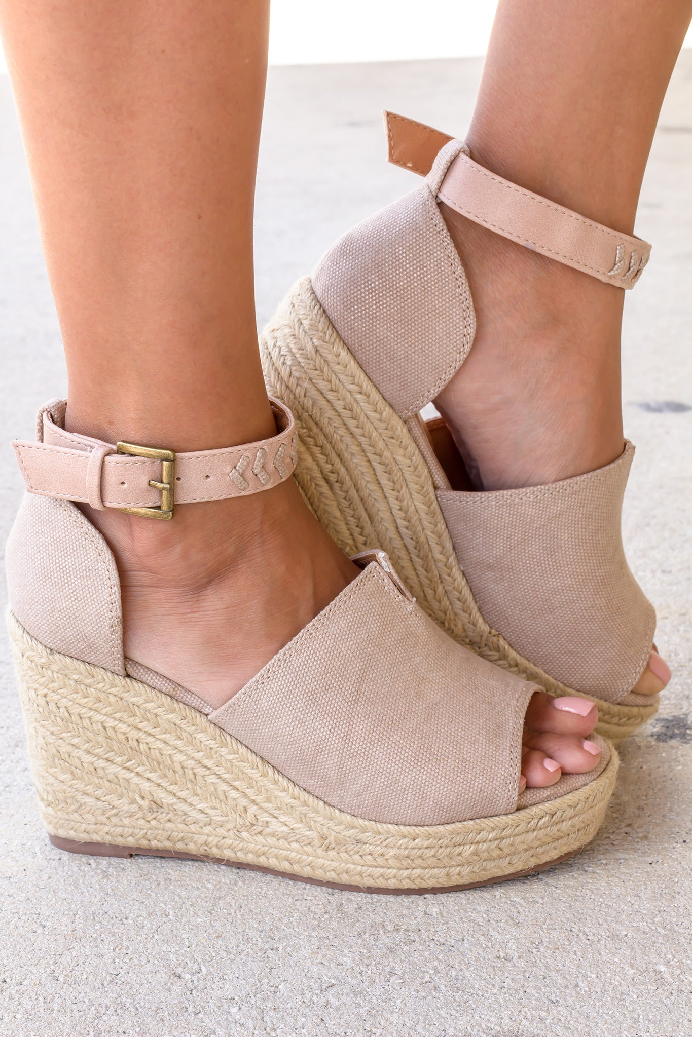 Leif Rose Gold Wedges