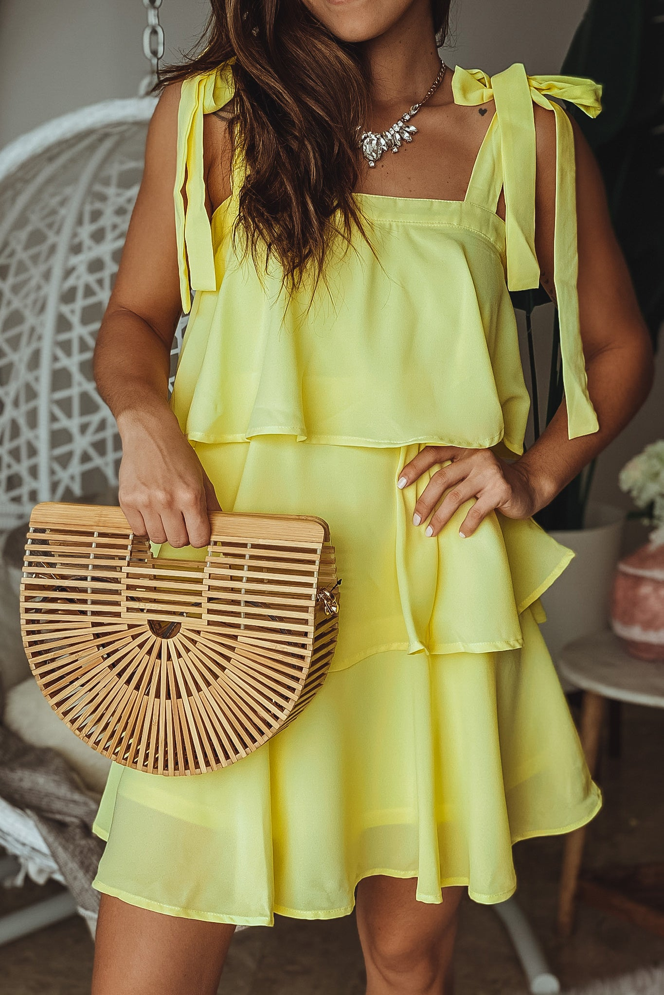Lemon Short Dress